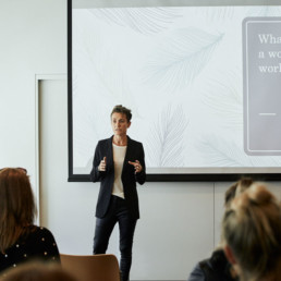 Annette Baker presents at Well Being For Women Event